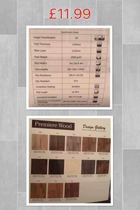 Premiere Wood vinyl floor covering Southampton