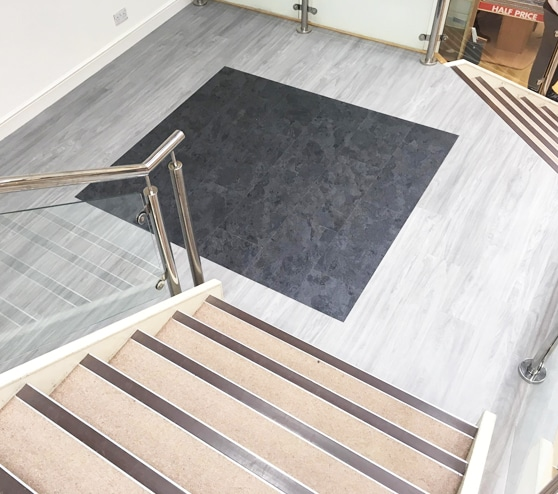Showroom flooring Hampshire