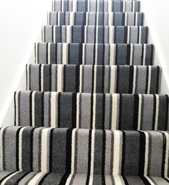 Stripe stair carpet fitting Southampton