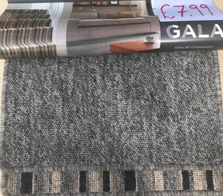 Value grey stripe carpet Southampton