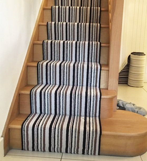 striped stair carpet fitter Hampsh9ire